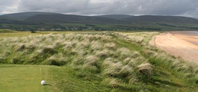 Brora golf course, north of Scotland