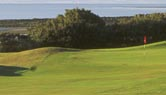 The 14th hole at Longniddry golf course